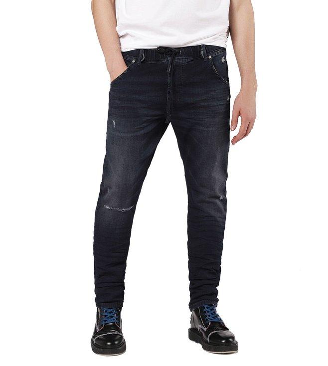 1bce3ee8 Buy Diesel Blue Denim Tattered Krooley-Ne Sweat Jeans for Men Online ...