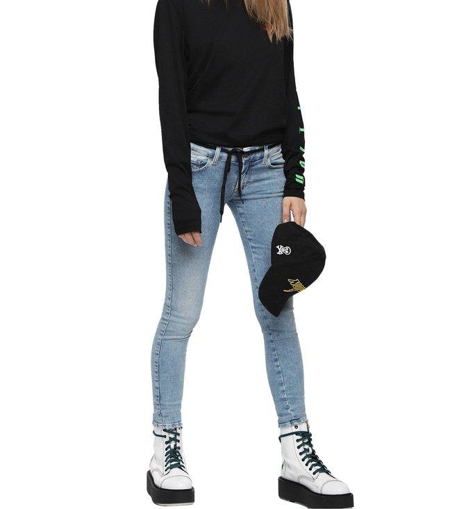86381cb9 Buy Diesel Blue Denim Slandy-Low L.32 Pantaloni Jeans for Women ...