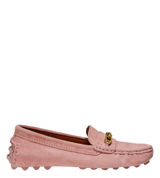 6c0d4618c1e Added to Bag. Coach Peony Crosby Signature Chain Suede Driver Loafers