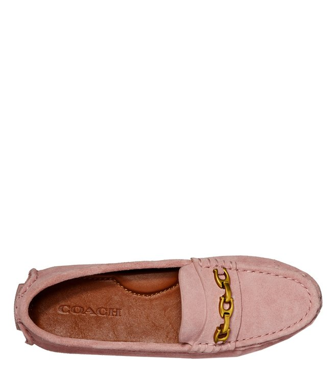 cf298552fe6 Buy Coach Peony Crosby Signature Chain Suede Driver Loafers for ...
