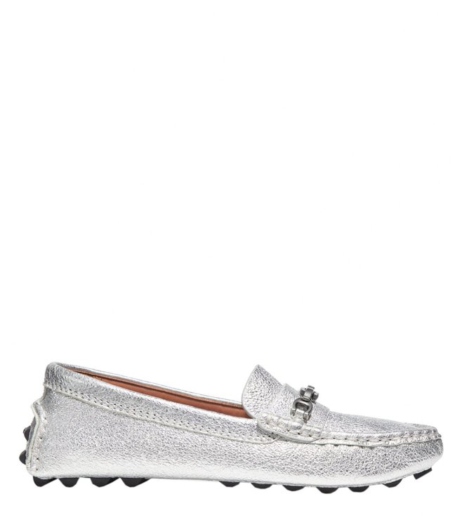 cccd9ef20e Buy Coach Silver Crosby Signature Chain Driver Loafers for Women ...