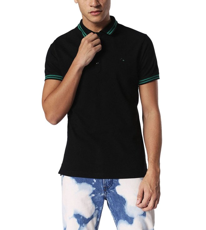 competitive price 788fd 04458 Diesel Black T-Randy Camicia Polo T-Shirt