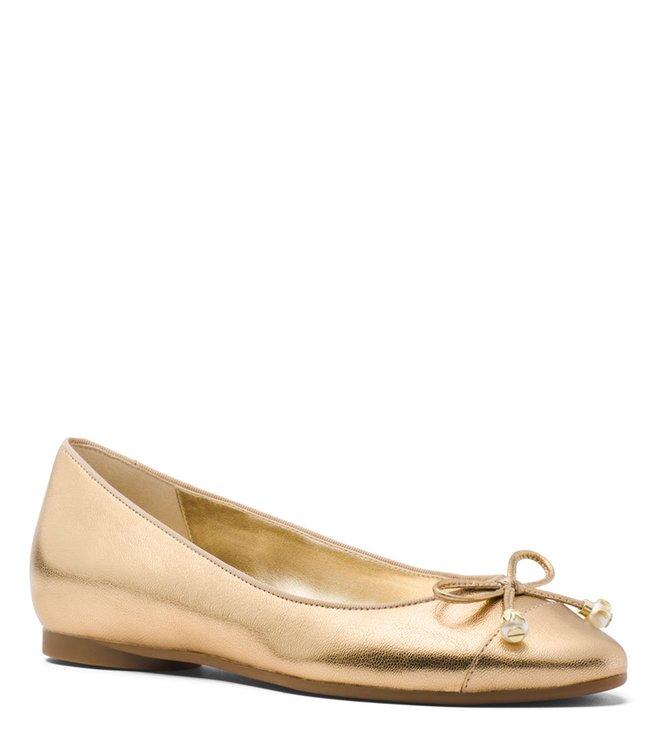 21d9ffcd01ca Buy MICHAEL Michael Kors Pale Gold Gia Ballet Ballerinas for Women ...