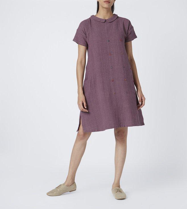 4c2888a3fa125 Buy Padmaja Purple Audrey Dress for Women Online @ Tata CLiQ Luxury