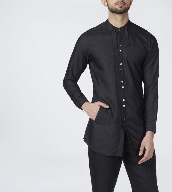 Raffughar Black Gaad Hainz - The Boatman Kurta