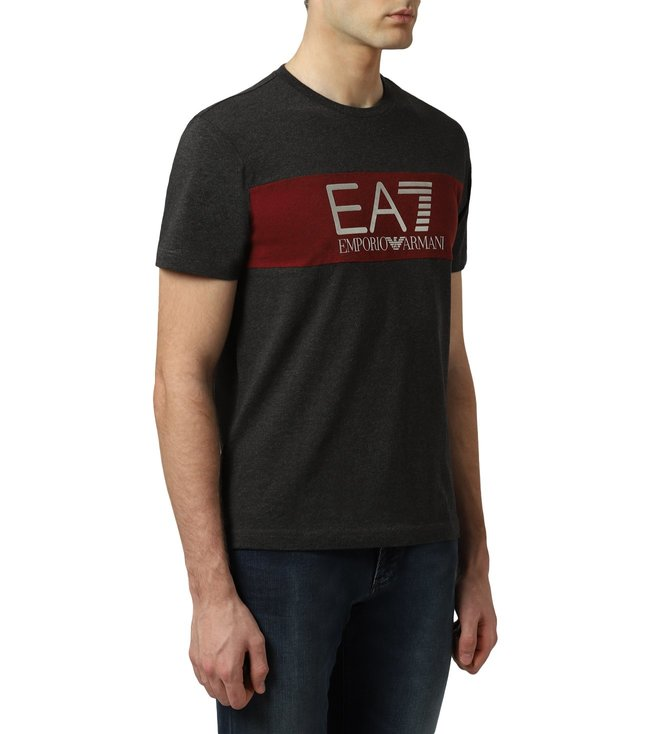 a43fd7458f Buy Emporio Armani Carbon Melange EA7 T-Shirt for Men Online @ Tata ...