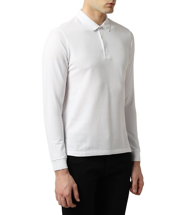 7c1d87db9a Buy Emporio Armani Bianco Ottico Cotton Pique Polo T-Shirt for Men ...