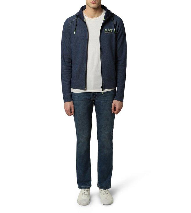 e0d467baa3 Buy Emporio Armani Blue Melange EA7 Natural Ventus 7 Sweatshirt for ...