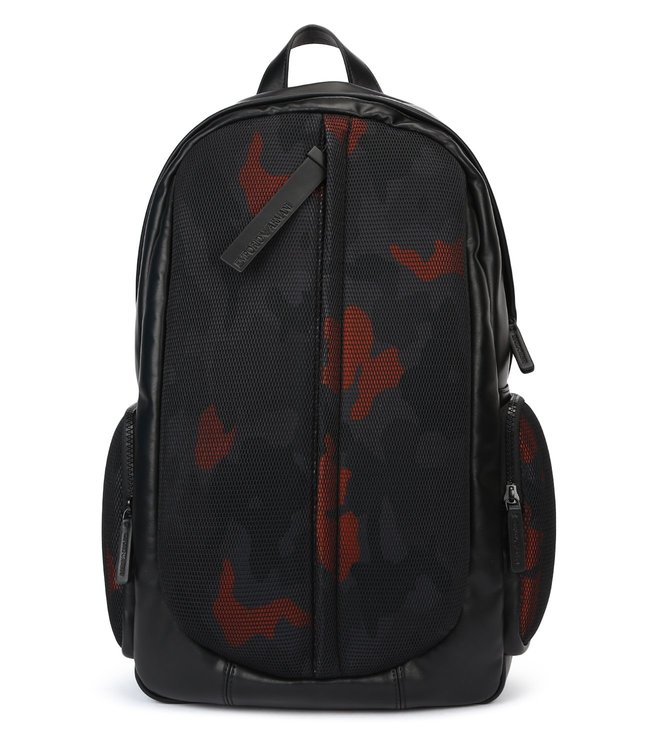 a6f3c0591a96 Buy Emporio Armani Camouflage Nero Mesh Backpack for Men Online ...