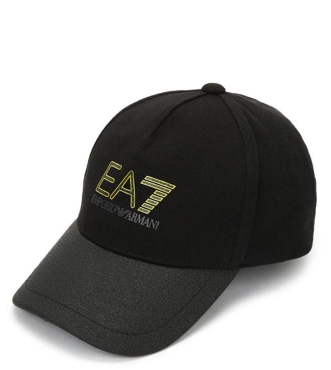dd7bc34b97 Buy Emporio Armani Nero & Grigio EA7 Logo Baseball Cap for Men ...