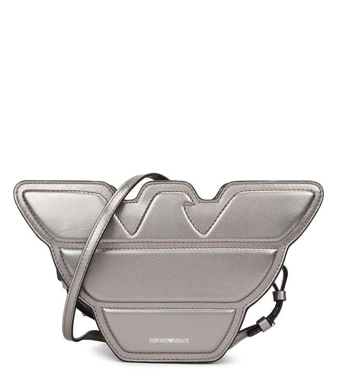 2a2ccb78c1a3 Emporio Armani. Emporio Armani Nero Logo Shaped Mini Cross Body Bag ...