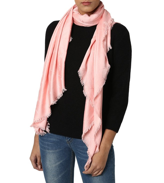 63bf2acbac Buy Emporio Armani Jacquard Rose Printed Scarf for Women Online ...