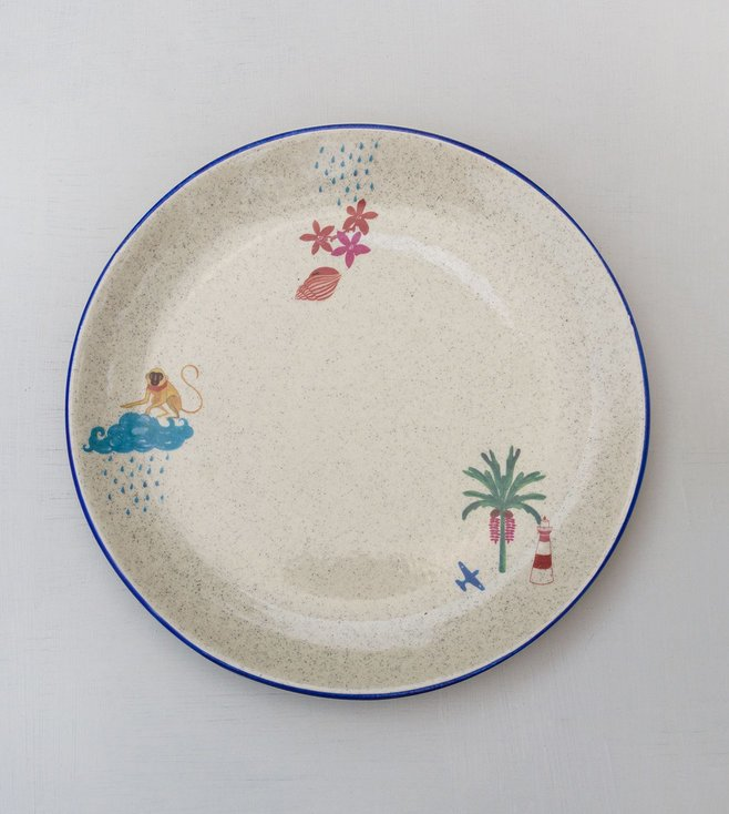 Nicobar Multicolour Nancowry Lighthouse Dinner Plate
