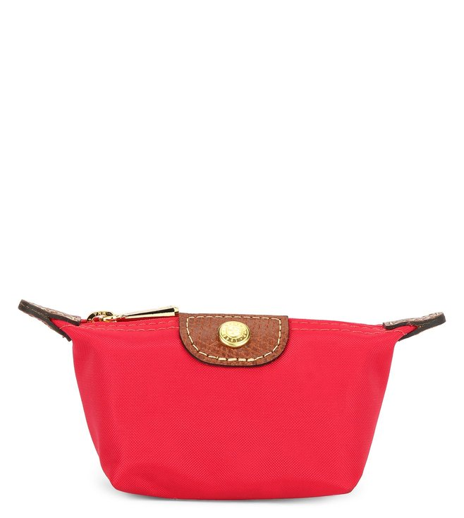 Buy Longchamp Red Garance Le Pliage Small Coin Purse for Women ... 6f0cd048bcfa0
