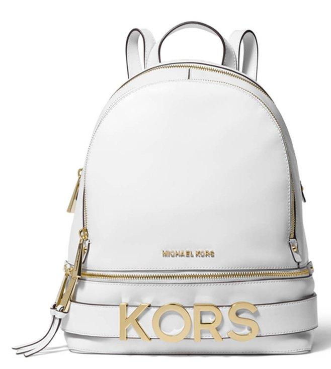 9dd208dfed76 Added to Bag. MICHAEL Michael Kors Optic White Rhea Zip Medium Backpack