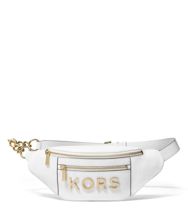 e04628236c94 Buy MICHAEL Michael Kors Optic White Kors Medium Waistpack for Women ...