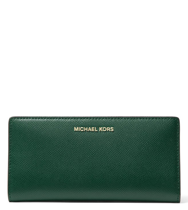 57c5093f195d Added to Bag. MICHAEL Michael Kors Racing Green Multi Small Money Pieces  Card Holder