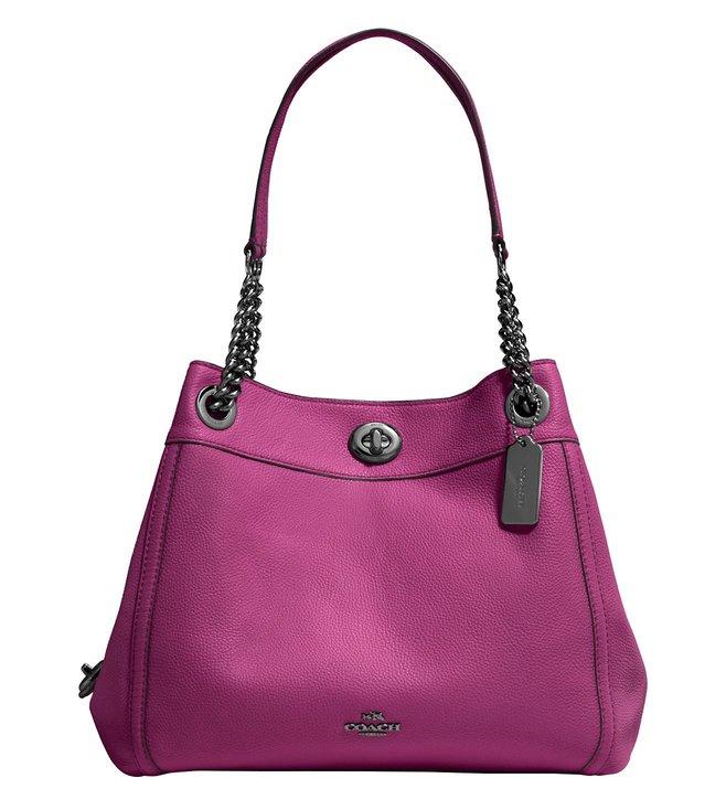 e319e384b9 Buy Coach Dark Berry Edie Medium Shoulder Bag for Women Online ...