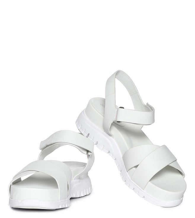 23687560d8b Buy Cole Haan White Zerogrand Criss Cross Strap Sandals for Women ...