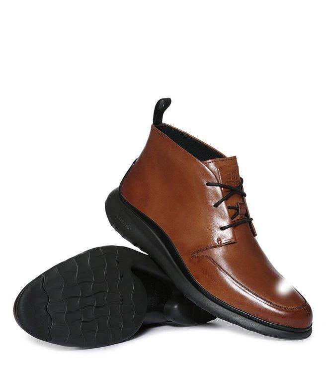 Cole Haan Tan 3 Zerogrand Chukka Boots
