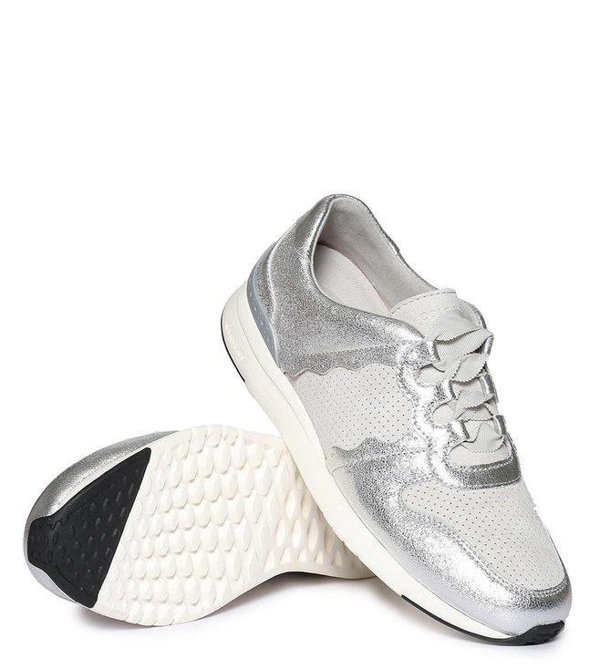 Buy Cole Haan Silver Grandpro Sneakers