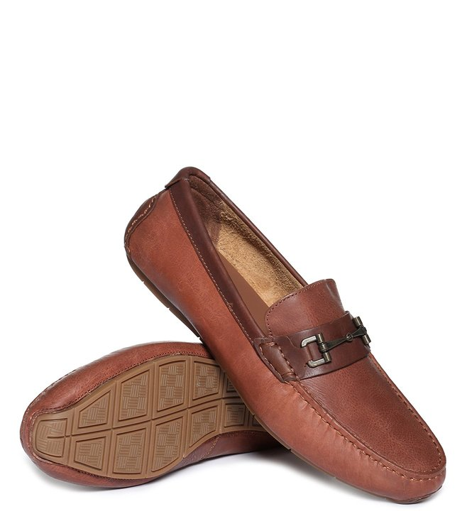 0488564e547 Buy Cole Haan Tan Somerset Link Bit Driver Loafers for Men Online ...
