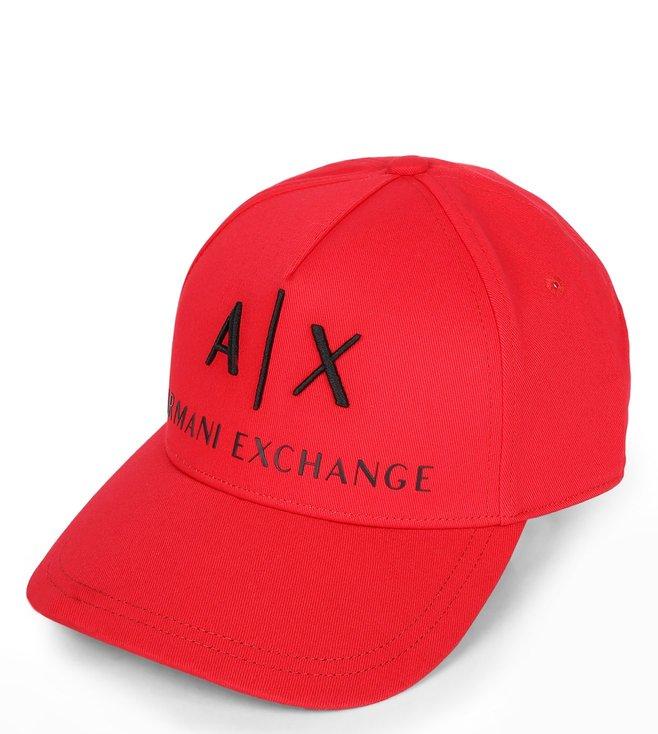 f5ec48bc186 Buy Armani Exchange Absolute Red Corp Logo Cap for Men Online   Tata ...