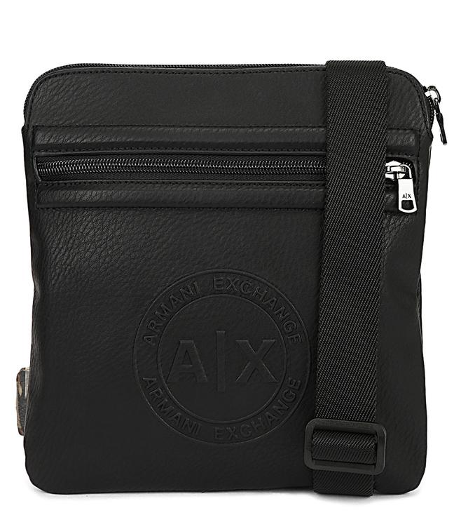 Buy Armani Exchange Nero Faux Leather Mini Cross Body Bag for Men ... 4a16d355c7a