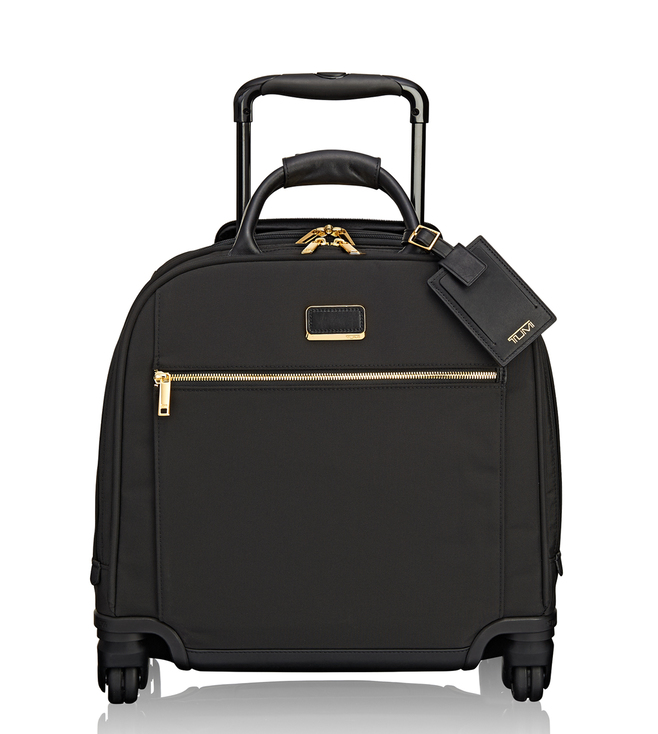 71503ef4dd Buy Tumi Black Larkin Simone Compact Carry-On Luggage Online   Tata ...