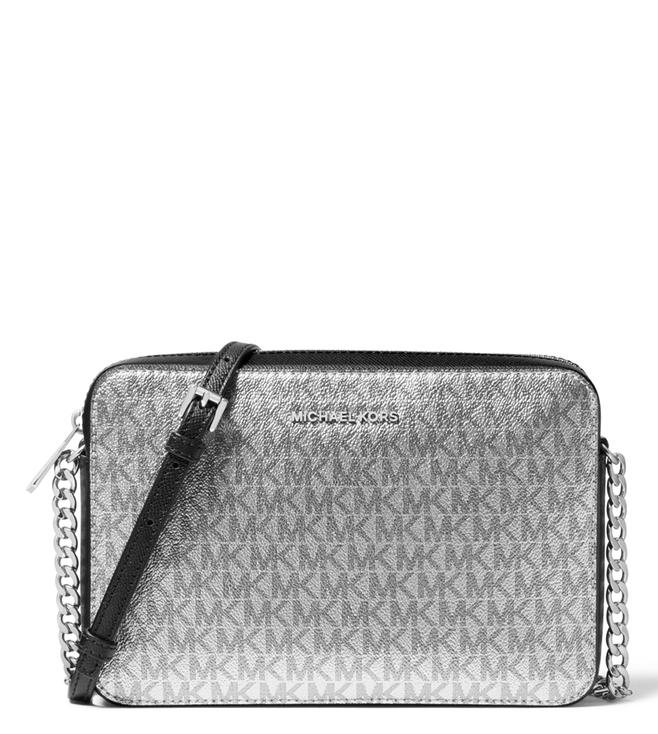 9e36a304dd7f Buy MICHAEL Michael Kors Silver   Black Medium Cross Body Bag for ...