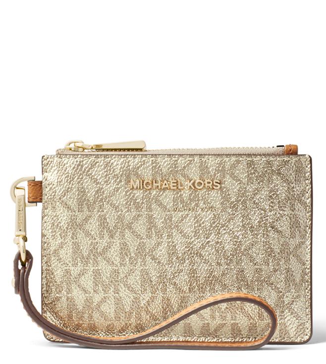 63e77414d33a Added to Bag. MICHAEL Michael Kors Acorn & Pale Gold Small Money Pieces  Wallet