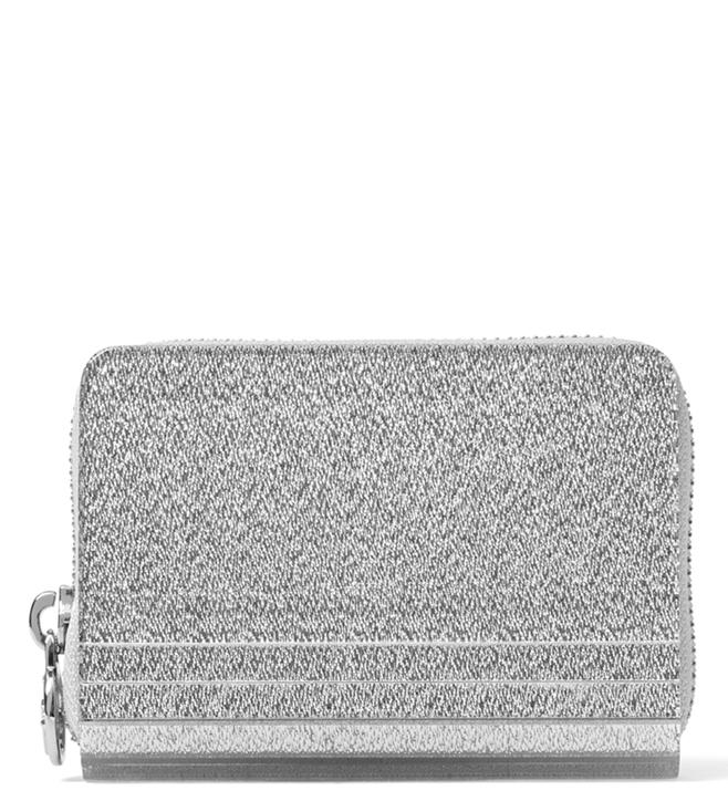 4ba8ac21fb72 Buy MICHAEL Michael Kors Silver Barbara Wallet for Women Online ...