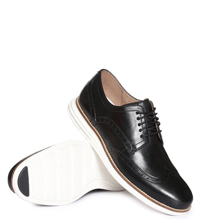b4a85ac4265 Buy Cole Haan Black Original Grand Wingtip Derby Shoes for Men ...