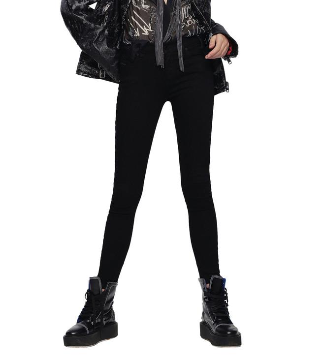 5cb0aafb Buy Diesel Black Slandy L.30 Pantaloni Skinny Jeans for Women Online ...