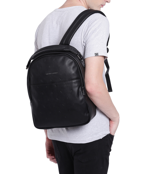 f547114a7b55 Buy Armani Exchange Nero Classic Large Backpack for Men Online ...