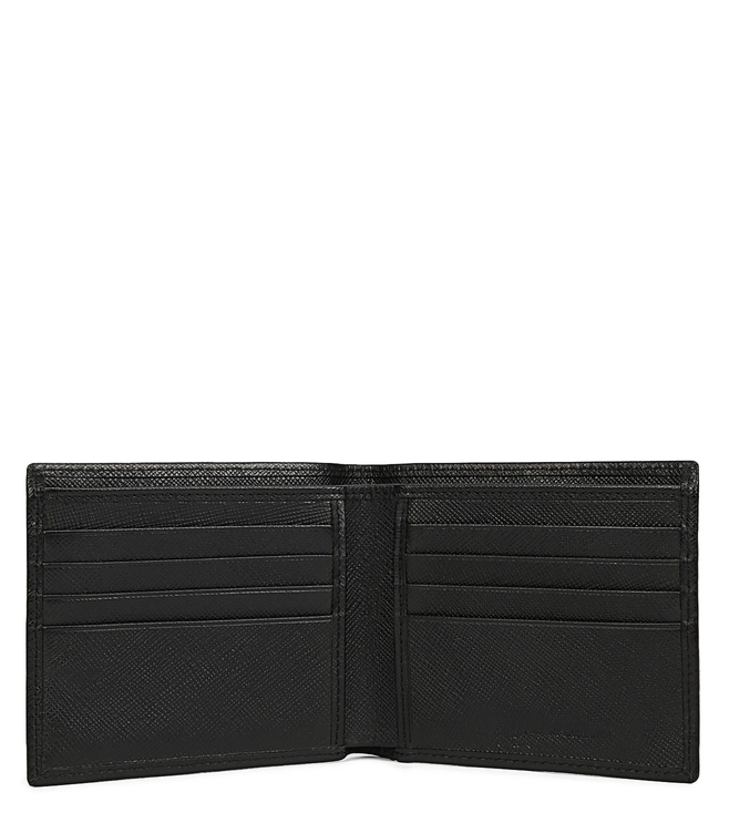 Buy Armani Exchange Nero Textured Billfold Small Wallet for Men ... 4a8553e050d85