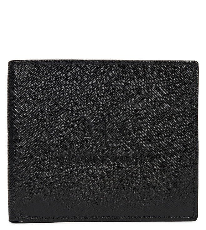 4a4456642c9c Buy Armani Exchange Nero Textured Billfold Small Wallet for Men ...