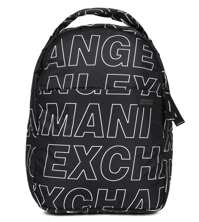 1c0019f07d91 Buy Armani Exchange Nero Allover Logo Puffy Large Backpack for Men ...
