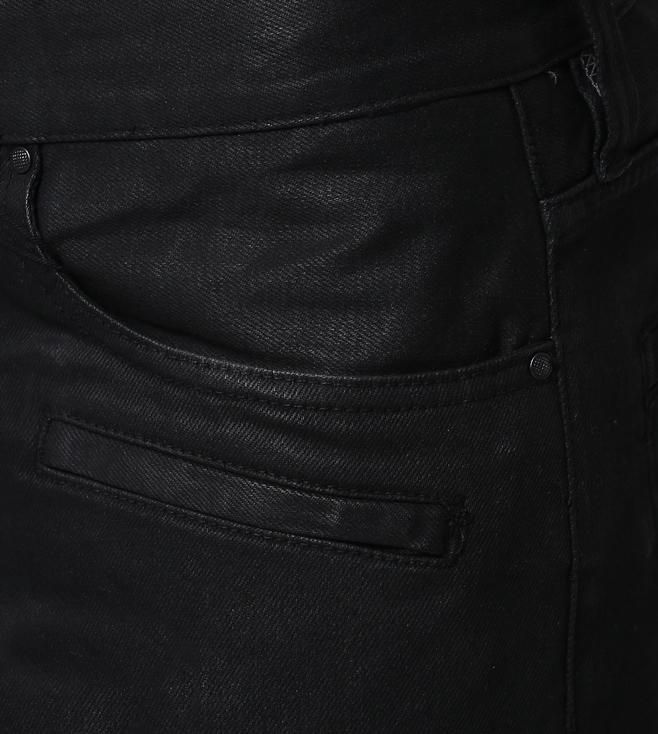 For Black Jeans Buy J27 Exchange Coated Fit Slim Denim Armani Biker ZwwOxv