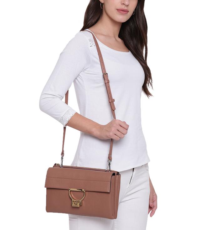 new collection new lifestyle delicate colors Buy Coccinelle Dark Pivoine Arlettis Mini Satchel for Women ...