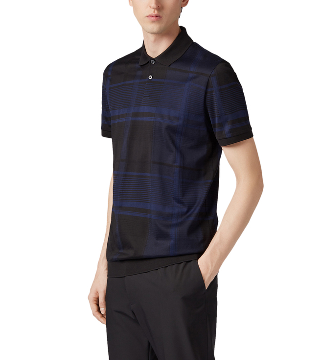 645545aa Buy Hugo Boss Parlay Open Blue Regular Fit Polo T-Shirt for Men ...