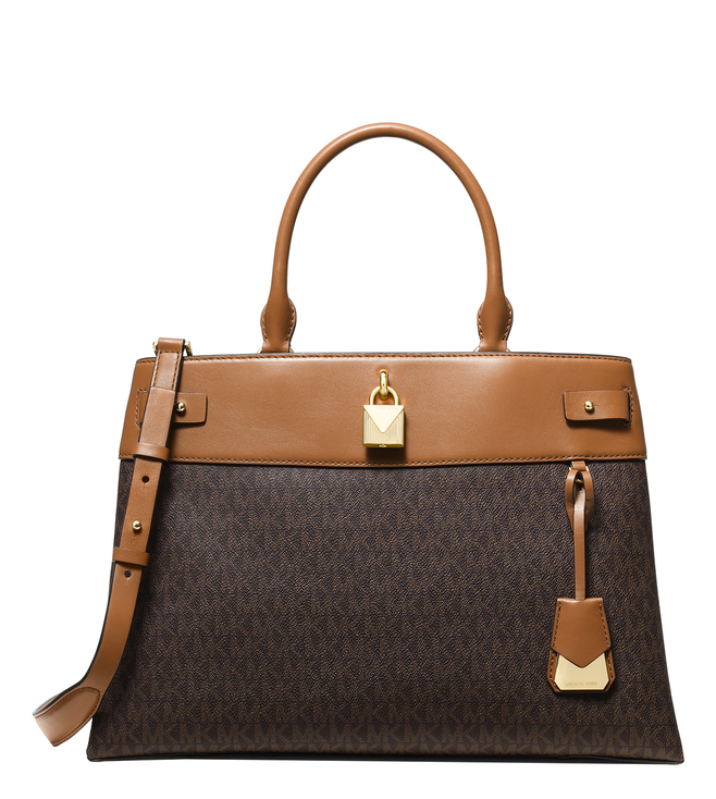 1435a4f076af Buy MICHAEL Michael Kors Brown & Acorn Gramercy Large Satchel for ...