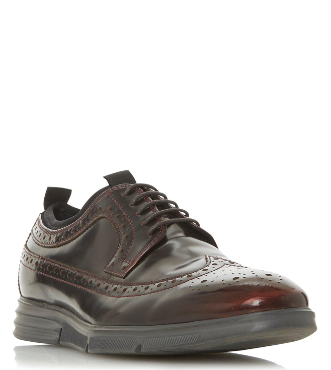 Dune London Bordo Beckford Hi Shine Brogue Shoes