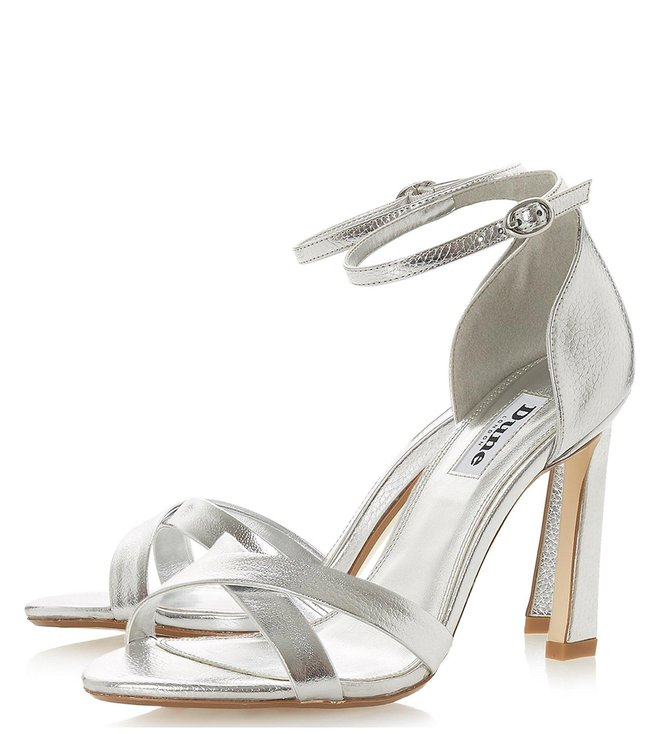 0c60f32e96 Buy Dune London Silver Madalay Ankle Strap Sandals for Women Online ...