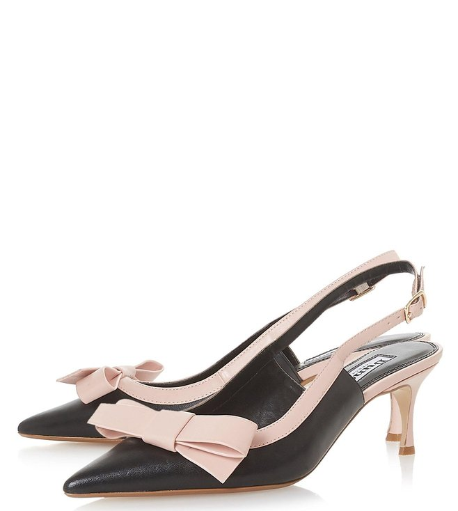 28f2240bc3350 Buy Dune London Black Clemmiee Courts Pumps for Women Online @ Tata ...