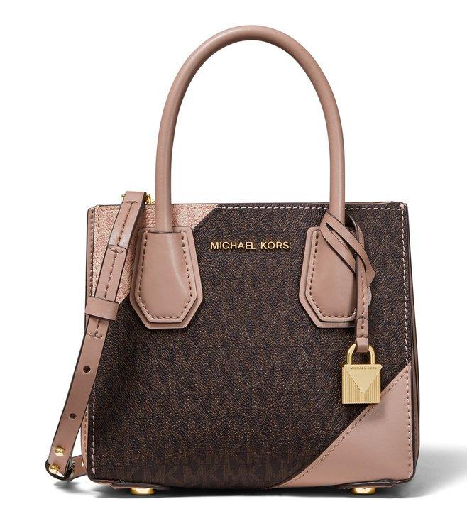 238cb5362bfd Buy Michael Kors Brown & Fawn Mercer Logo Print Cross Body Bag for ...