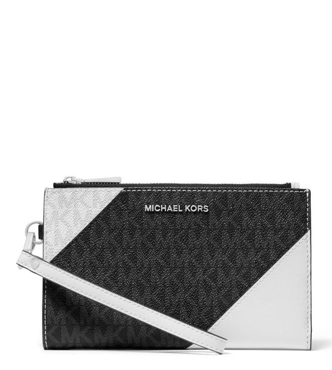 413b633c6d1b Added to Bag. MICHAEL Michael Kors Black & Optic White Adele Medium Logo  Wallet