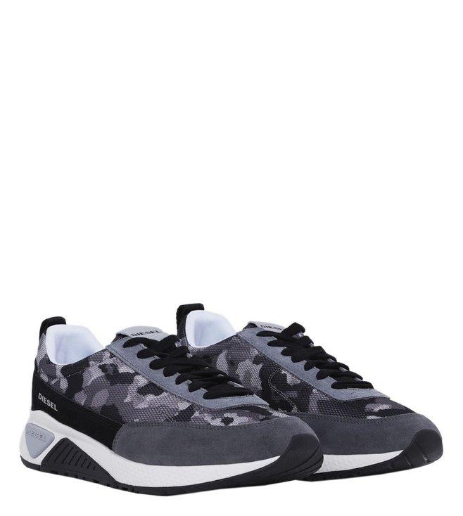 2d5bd248622dd Buy Diesel Grey Camo Print S-KB Low Lace Men Sneakers for Men Online ...