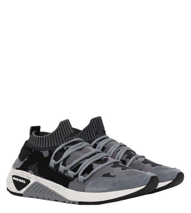 84cca6b0b07a2 Buy Diesel Grey Camo Print SKB-Sl Men Sneakers for Men Online @ Tata ...