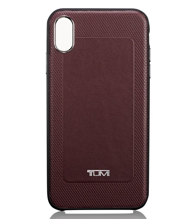 hot sale online d6a13 4d854 Buy Tumi Burgundy Medium Protective Leather Co-Mold iPhone XS Max ...